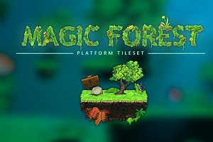 Magic Forest - Platform Tileset
