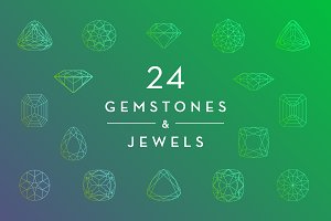 Gemstone and Jewel Wireframes