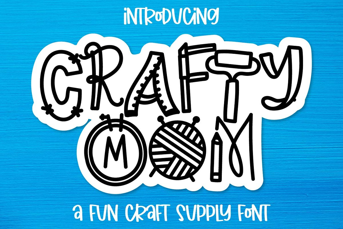 Crafty Mom - Craft Supply Font