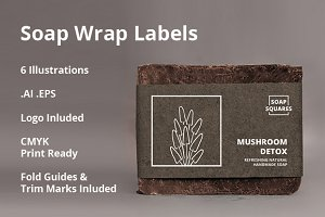 4 Soap Wrap Labels ( +2 Free )