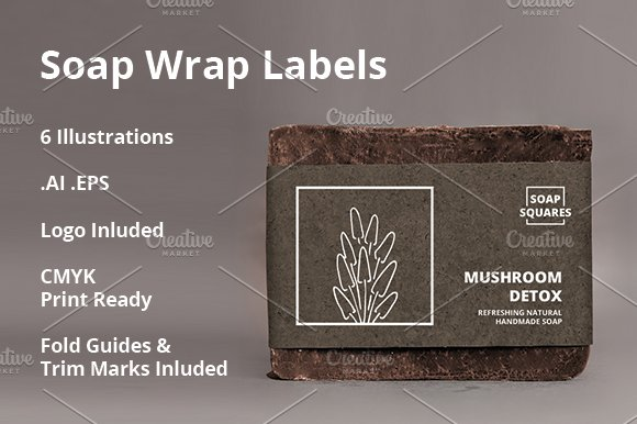 4 soap wrap labels 2 free templates creative market
