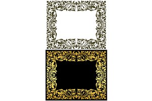Golden floral retro frames