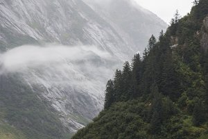 Misty Mountains in the Fjord, Alaska