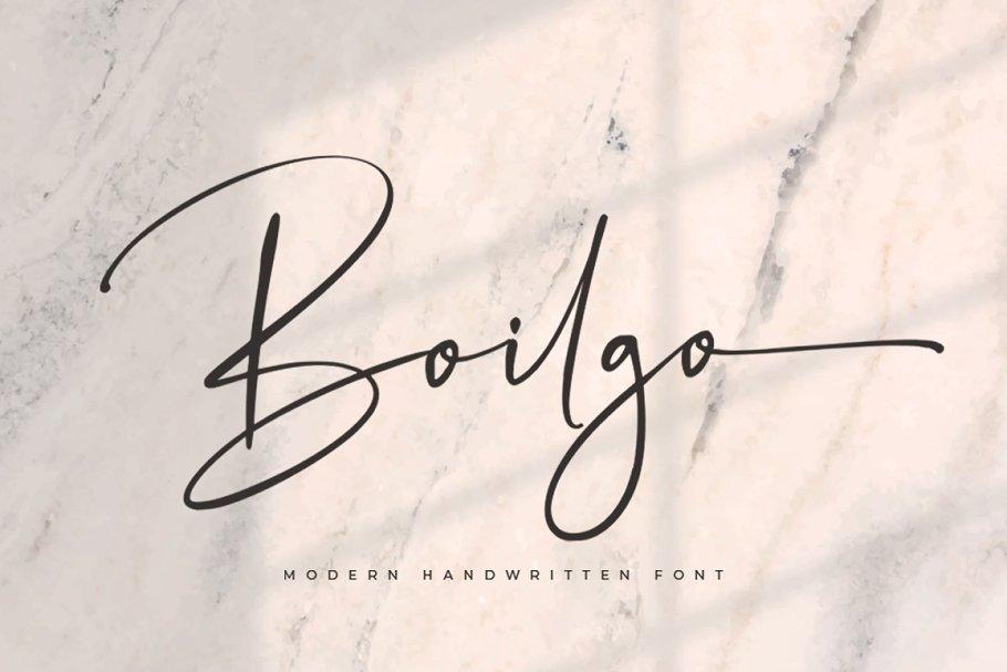 Boilgo - Handwritten Font