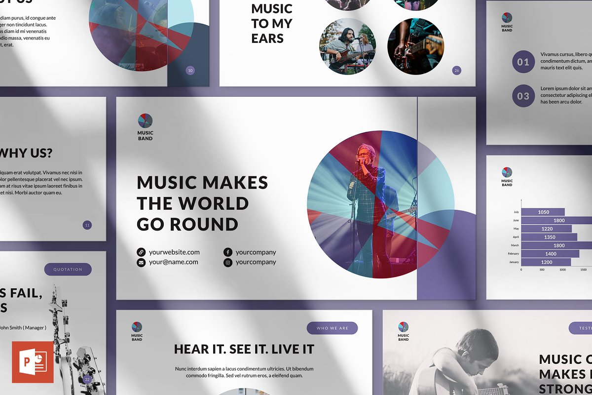 Music Band Powerpoint Presentation Powerpoint Templates