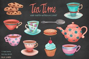 Tea Cups & Cookies