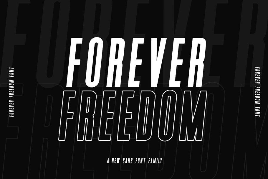 Forever Freedom Font Family