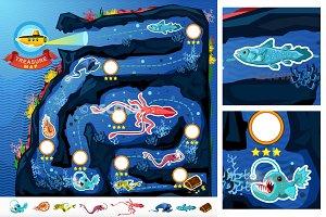 Deep Sea Treasure Game Map