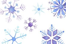 Watercolor Snowflake Pack
