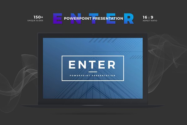 Enter Minimalist PowerPoint Template