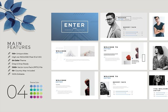 Enter Minimalist PowerPoint Template in PowerPoint Templates - product preview 1