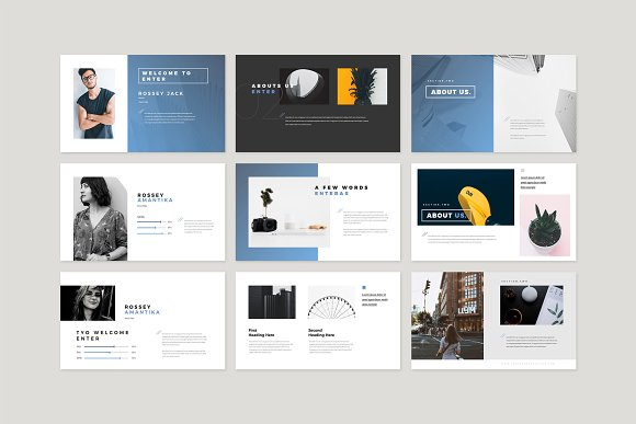 Enter Minimalist PowerPoint Template in PowerPoint Templates - product preview 2
