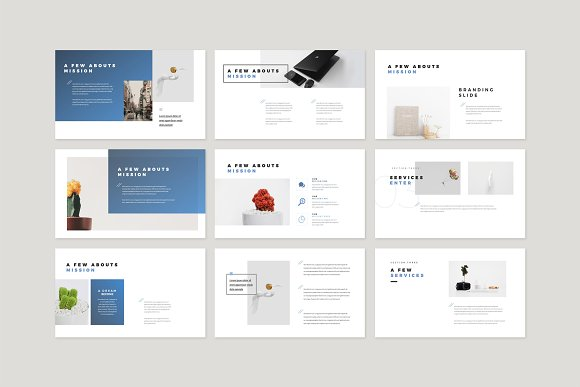 Enter Minimalist PowerPoint Template in PowerPoint Templates - product preview 3