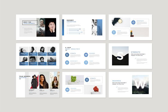 Enter Minimalist PowerPoint Template in PowerPoint Templates - product preview 8