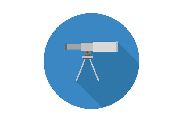telescope icon pre designed illustrator graphics creative market creative market