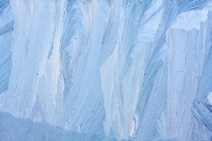 blue ice natural background