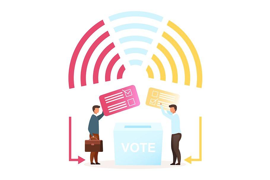 Election flat vector illustration