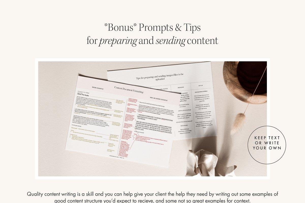 Website Content Workbook Template