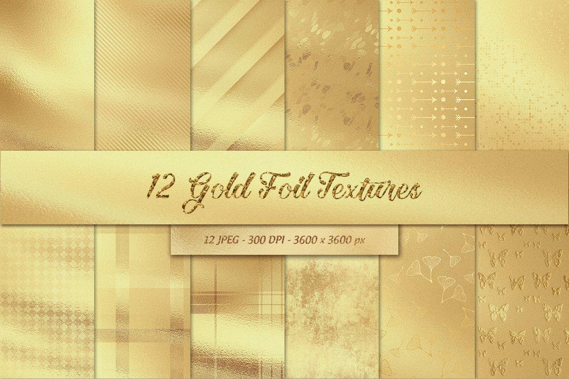12 gold foil textures textures creative market