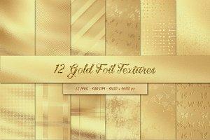 12 Gold Foil Textures