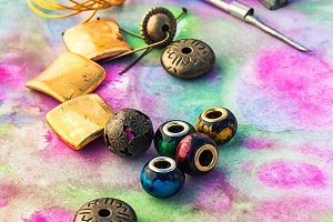 Beads and tools for needlework