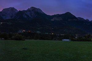 Morning panorama in Schoenau