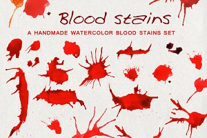 Watercolor blood splash spots