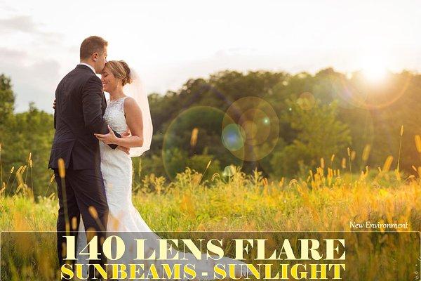 140 lens flare, sunlight overlays