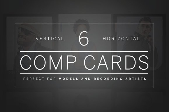 Vertical and Horizontal Comp Cards
