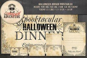 Halloween Dinner Printables