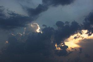 Clouds storm