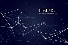 Abstract triangular mesh backgrounds
