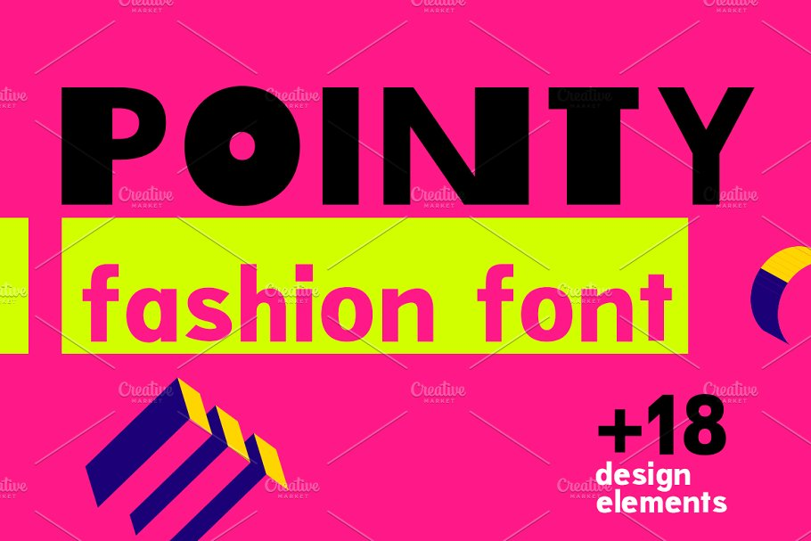 Pointy| bright and elegant font