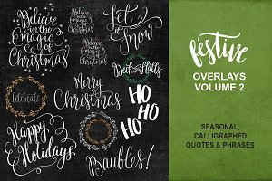 Christmas Wishes Overlays - Vol Two