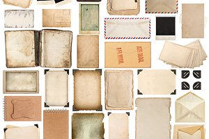 Used paper sheets photo frames JPG