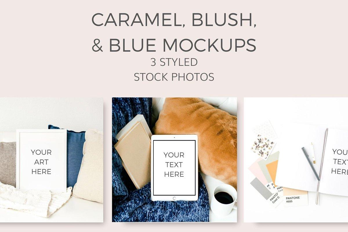 Caramel,Blush,Blue Mockup (9 Images)