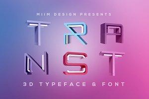 TRANST - 3D Lettering & Font