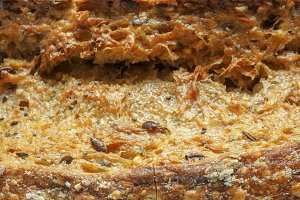 Close up of ecological wheat bread