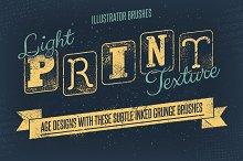 Light Print Texture Brushes