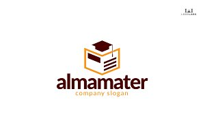 Almamater - Education Logo