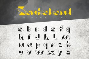 Sentaband font of Ribbon