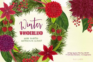 Christmas Watercolors Wonderland