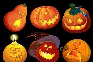 Set pumpkins for Halloween.