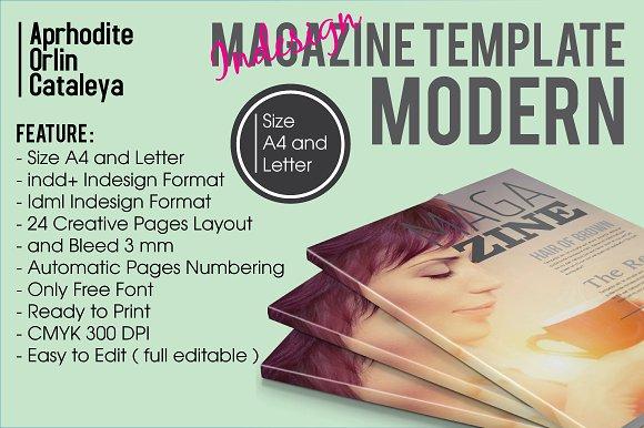 Magazine Template Modern