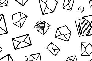 Envelope black icons  pattern