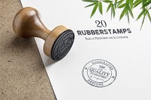 20 Rubber Stamps (PSD & EPS)