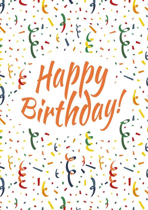 happy birthday card cover illustrations creative market
