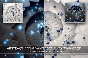 Abstract Spiral – YIN YANG Twin Set