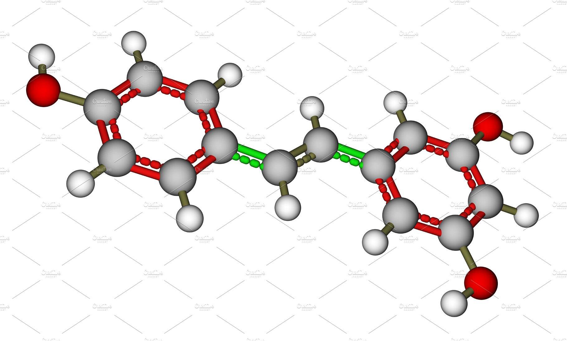 Resveratrol Molecular Structure Custom Designed Illustrations