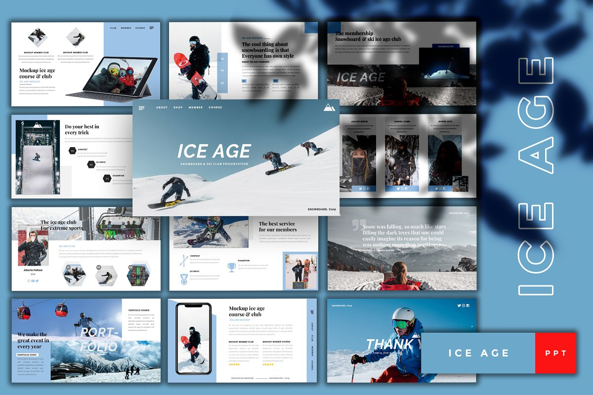 Ice Age-Snowboard PowerPoint